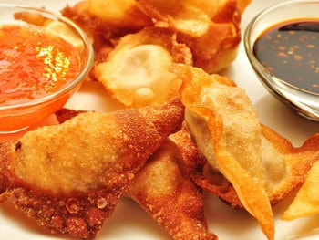 Fried Wontons for boat party