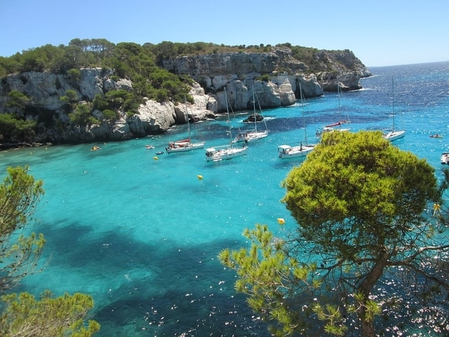 Balearic Islands on a crewed yacht charter