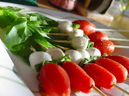 Mini Caprese Skewers boating snack