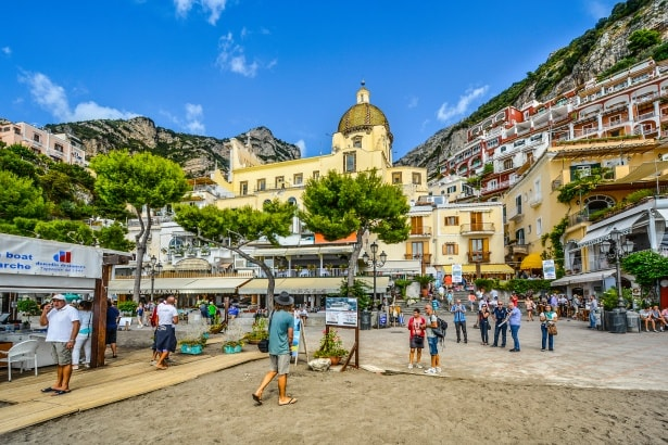 Positano Italy on a private yacht charter