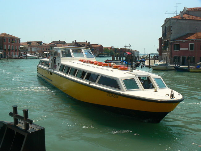 Alilguna water transportation in Venice