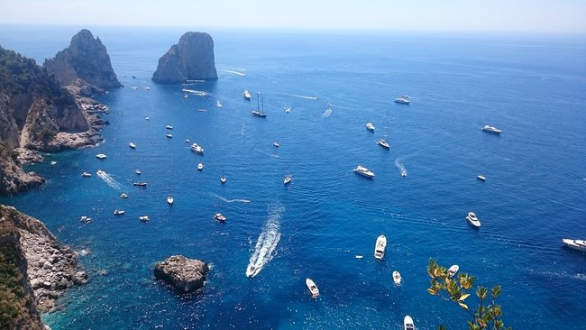 Capri tour by boat from Sorrentto or Naples