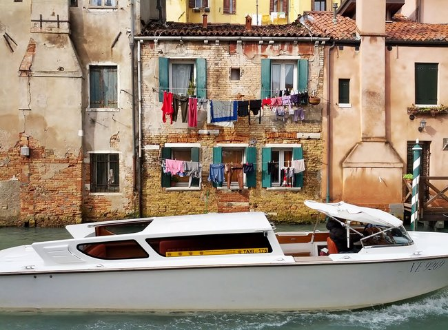 Water Taxi transportation in Venice