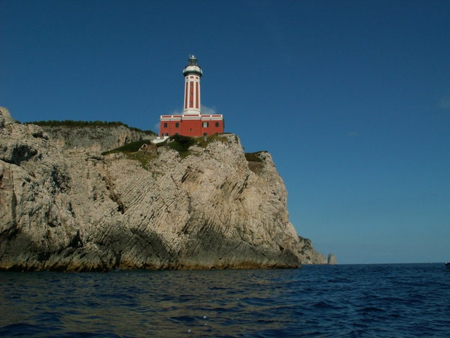 Capri Boat tour punta carena lighthouse