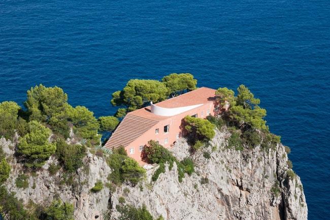 Capri boat ride Villa malaparte