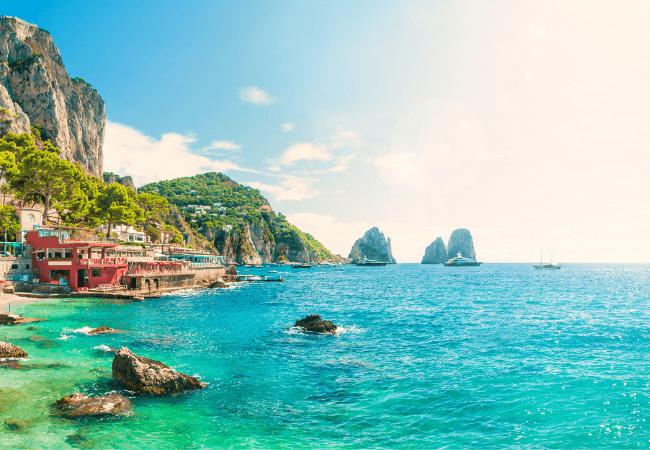 Marina De Mulo Beach Capri Italy