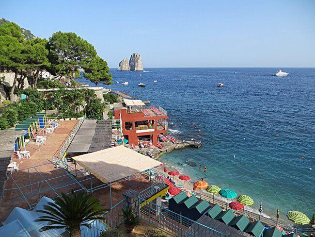 Marina Piccola Beach Capri Italy