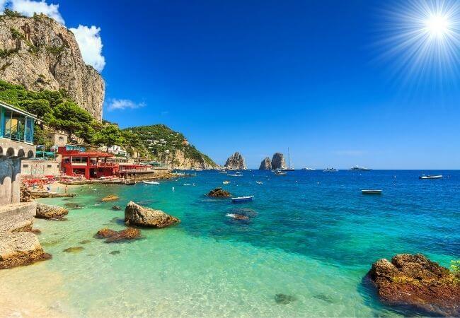 Cruising to Capri from Sorrento