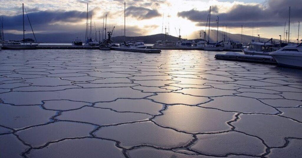 Boating in the winter season